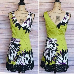 Nine West Lime Green A-line Dress